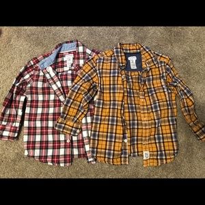 Two fannel boys size 2T shirts